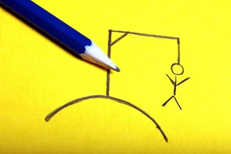 gallow: hangman pencil drawing