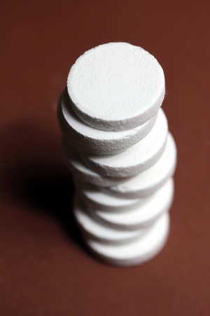 effervescent tablets stack Stock Photo - 14550349