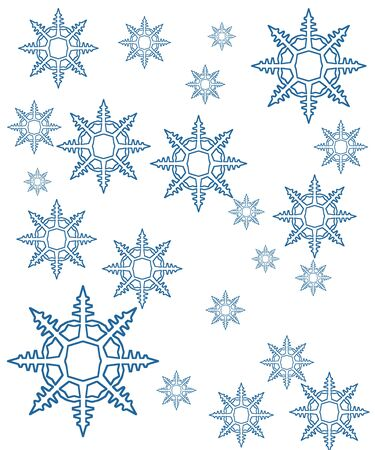 wintry: snowflakes mix background