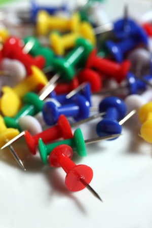 colorful bulletin board needles Stock Photo - 14738530