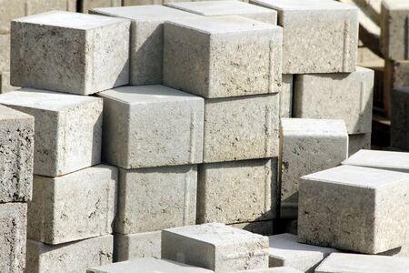 pile of new cobblestones photo