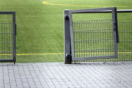 yardline: entrance in a football field Stock Photo