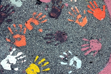 many different handprints photo