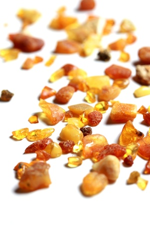 isolated amber pieces