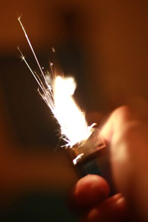 abstract lighter sparks photo