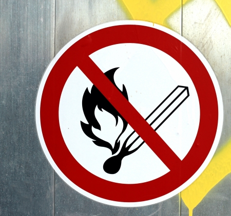 No open fire sign photo