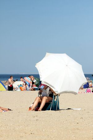 parasol on the beach photo