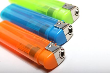 three colorful lighters Stock Photo - 15062724
