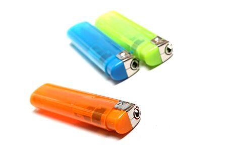 three colorful lighters Stock Photo - 15062657