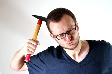 mad man with hammer