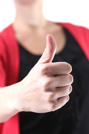 woman showing thump up Stock Photo - 15545904