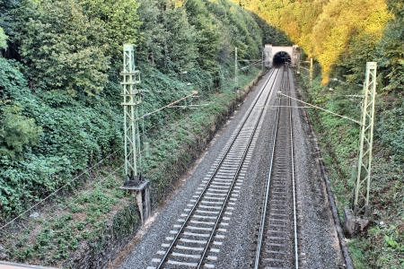 railway track hdr picture photo