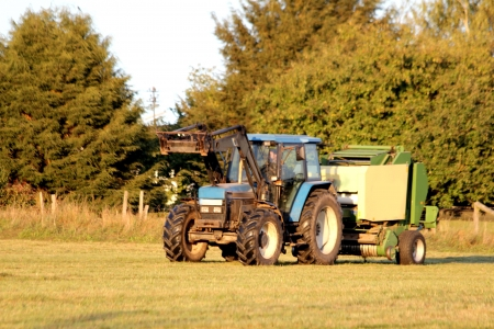 tractor with hay bales Stock Photo - 15676259