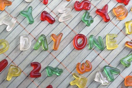 sweet letters day one Stock Photo - 15677434