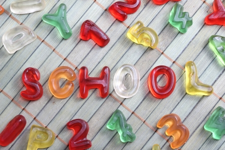 sweet letters school Stock Photo