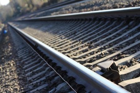 plain german railway tracks