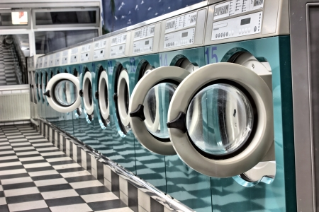laundromat: a launderette as a hdr picture Stock Photo