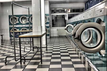 laundry detergent: a launderette as a hdr picture Stock Photo