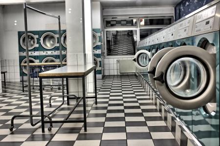 een wasserette als een hdr foto