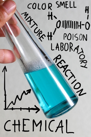reaction: chemicals in a test tube concept art