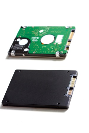 ssd drive versus hdd drive photo
