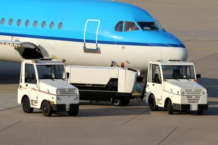 lugage: airport service cars Stock Photo