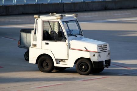 lugage: airport service car Stock Photo
