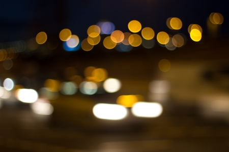 cologne city night blur background 2 Stock Photo