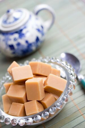 delicious butter fudge pieces Stock Photo - 17565337