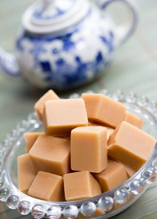 delicious butter fudge pieces Stock Photo - 17565336