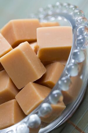 delicious butter fudge pieces Stock Photo - 17565341
