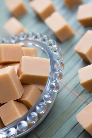 delicious butter fudge pieces Stock Photo - 17565343