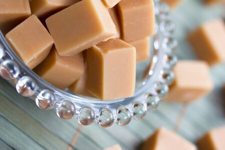 delicious butter fudge pieces Stock Photo - 17565346
