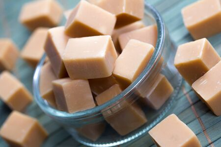 delicious butter fudge pieces Stock Photo - 17565348