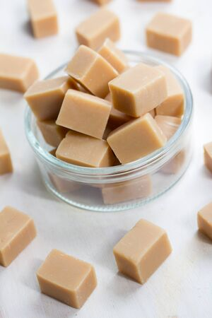 delicious butter fudge pieces Stock Photo - 17565345