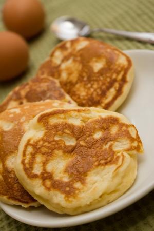 mini apple pancakes Stock Photo