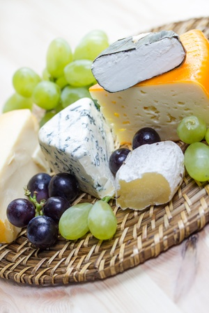 a selection of fine cheese photo