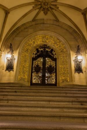 mayoral: entrance hall of the Hamburger Rathaus Stock Photo