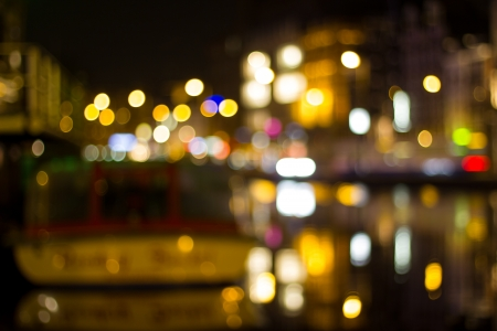 amsterdam city night bokeh background