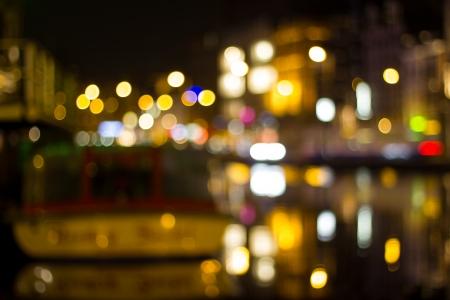 amsterdam city night bokeh background