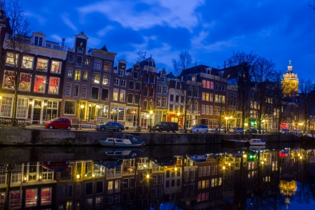 Amsterdam Grachten at the evening Stock Photo - 18585155