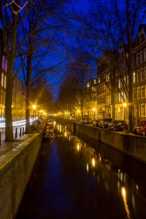 Amsterdam Grachten at the evening Stock Photo - 18601044