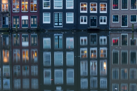 Amsterdam Grachten at the evening Stock Photo - 18589675