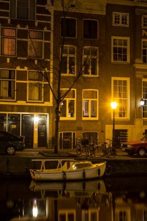 residential idyll: Amsterdam Gracht at night