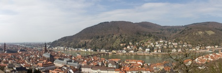 panorama view on the historic Heidelberg City photo