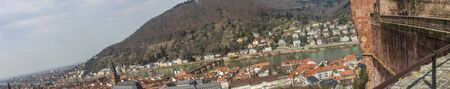 panorama view from the Heidelberg castle on Heidelberg photo
