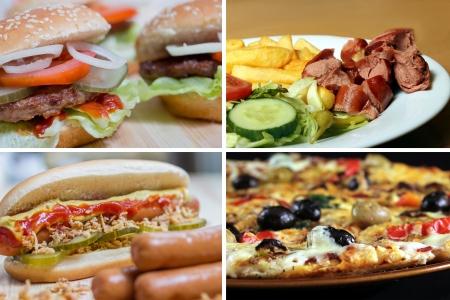 Fast-Food-Bildersammlung
