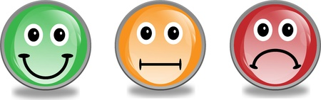 happy sad: 3d smiley emotivo Vettoriali