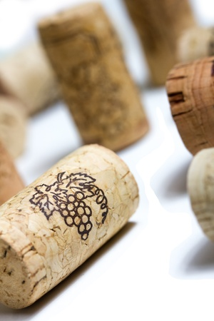 isolated whine corks photo