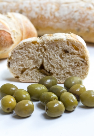 dekorated: ciabatta and olives